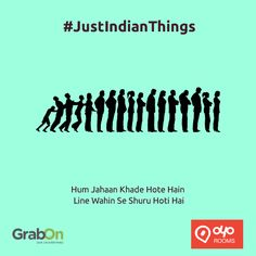 """What are """"Typical Indian Things""""? Saving a rupee on chocolate or asking for the free shampoo sachet.  Today we decided to list few such things and want you to share more such """"Just Indian Things"""" you do. And we will give you free coupons to save more on hotel bookings: http://www.grabon.in/oyorooms-coupons/ #JustIndianThings"""