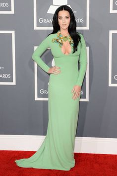 Katy Perry in mint green Gucci #Grammys