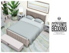 Peace's Place : Cozy Knits Bedding - Luxurious Bedding in 30... Tub Shower Combo, Shower Tub, Sims Baby, Sims 4 Bedroom, Tumblr Bedroom, Clerestory Windows, Art Deco Home, Modern Bedroom, Luxury Bedding