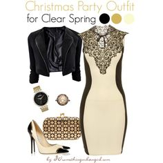 Christmas Party Outfit/Holiday look for Clear Spring by taggica on Polyvore | #party #PartyWear #Christmas #Howtostyle #ClearSpring #SpringWinter #holiday #holidaylook