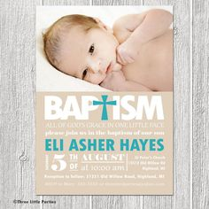 Printable Baptism Invitation - All of God's Grace in One Little Face