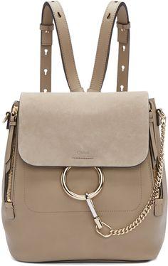 Chloé Grey Medium Faye Backpack.