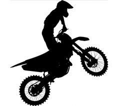 Motocross Dirt Bike Stunt Rider Vinyl Window by BucksCountyButtons Motocross Tattoo, Dirt Bike Tattoo, Motocross Riders, Bike Tattoos, Tatoos, Laptop Decal Stickers, Bike Stickers, Decals, Bike Silhouette