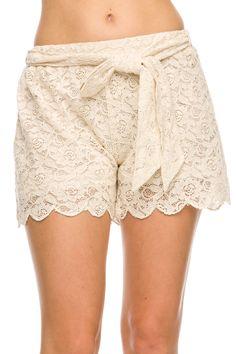 Floral Crochet Lace Shorts