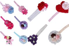 Baby Kid Girl Satin Nylon Lace Ruffle Flower Hairband Elastic Headband Hair Band