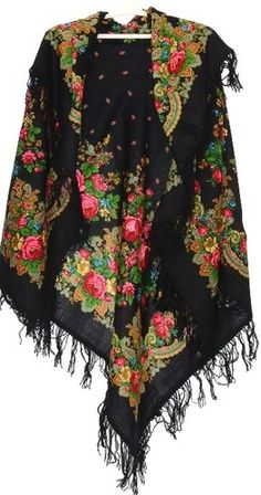 Russian shawl اینا همیناس که ما بهش میگیم روسری ترکمن.خیلی هم زیبا