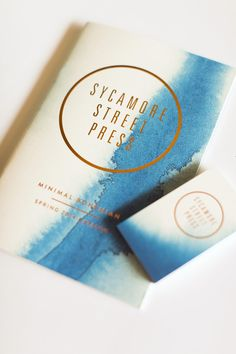Creative Business Card Ideas + Tools to Create Your Own 7 Creative Business Card Ideas: Sycamore Street Press Branding And Packaging, Packaging Design, Branding Design, Identity Branding, Brochure Design, Visual Identity, Web Design, Book Design, Print Design