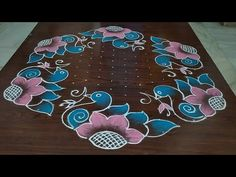 Sankranti chukkala muggulu// Beautiful birds rangoli.. only 17*9 dot's - YouTube Simple Rangoli Border Designs, Rangoli Designs Latest, Rangoli Designs Flower, Rangoli Borders, Free Hand Rangoli Design, Small Rangoli Design, Rangoli Patterns, Rangoli Designs Diwali, Rangoli Designs With Dots