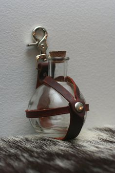 Brown Leather Potion Bottle Holder by Versalla on Etsy