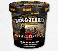 Top 10 Funny But Fake Ben & Jerry's Flavours  Also, throw in some Walking Dead Wafers!  #Ben&Jerrys #IceCreamWars8 #Funny