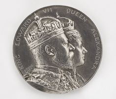 Silver medal for the Coronation of King Edward VII by Elkington & Co, 1902