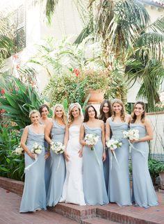 It is a blue affair! http://www.stylemepretty.com/2016/12/15/blue-gold-santa-barbara-wedding/ Photography: Michelle Beller - http://www.michellebeller.com/