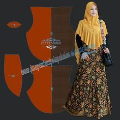 Bergo if you intersting this pattern, we will send e-pattern via email with format dxf and pdf use this link below for complete the purcaseImage may contain: 1 person Muslim Dress, Hijab Dress, Abaya Fashion, Diy Fashion, Abaya Pattern, Instant Hijab, Hijab Caps, Modele Hijab, Bridal Hijab