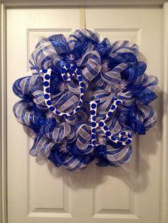 University of Kentucky Wildcat Deco Mesh Wreath