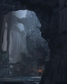 Cave interior concept art for 'Rise of Tomb Raider'. As concept art goes... Variations and exploration are a daily routine! The fun of exploration =). by jamespaickart
