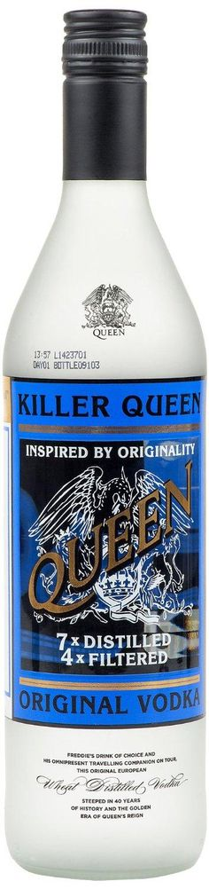 LIGHTNING DEAL Killer Queen Vodka Limited Edition Numbered 70cl £20.96 LOWEST EVER PRICE