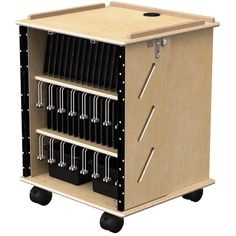 Find Jonti-Craft's Laptop and Tablet Storage Cart for less when you shop SCHOOLSin today. This birch cart holds up to 32 devices. Storage Cart, Locker Storage, Laptop Storage, School Furniture, Chromebook, Lockers, Classroom, Technology, Cabinet