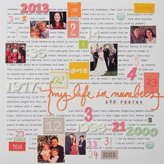 Scrapbooking Ideas for Telling A Story with Numbers | Marie-Pierre Capistran | Get It Scrapped