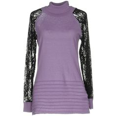 Guess By Marciano Turtleneck ($135) ❤ liked on Polyvore featuring tops, sweaters, purple, purple top, purple sweater, purple turtleneck sweater, long sleeve sweater and long sleeve turtleneck