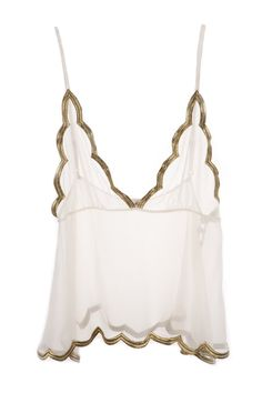 OYSTER LUXE GOLD LEAF CAMISOLE [OYSTER LUXE GOLD LEAF CAMISOLE] : Ell & Cee, Luxury Lingerie
