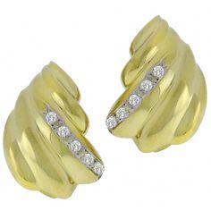 0.25ct Round Cut Diamond 14k Yellow Gold Earrings