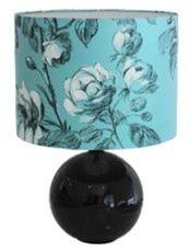 black ceramic ball lamp
