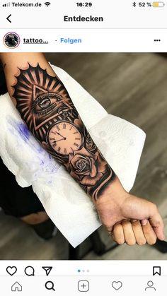 Half Sleeve Tattoos Forearm, Forarm Tattoos, Cool Forearm Tattoos, Forearm Tattoo Design, Best Sleeve Tattoos, Tattoo Sleeve Designs, Arm Tattoos For Guys, Rose Tattoos, Leg Tattoos