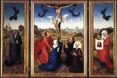 Crucifixion Triptych by Rogier van der Weyden #art