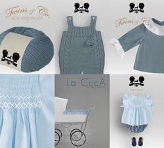 Colección en punto hecho a mano, lana y algodón para bebé.