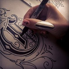.@chrissyhutchm | ~ Gothic Fonts ~ I love lettering especially Gothic and Old English style, so...