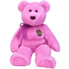 Eggs the Pink Easter Teddy Bear - Ty Beanie Buddies