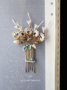 Brooch, Rainbow, Embroidery, Beads, Crochet, Handmade, Jewelry, Beadwork, Deco