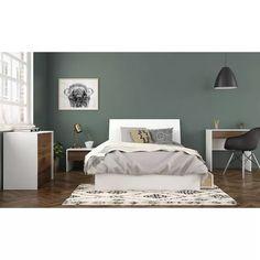 Calming Bedroom Colors, Green Bedroom Walls, Green Master Bedroom, Bedroom Decor, Bedroom Inspo, Green Walls, Master Suite, Bedroom Furniture, Full Size Storage Bed