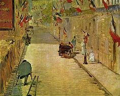 La Rue Mosnier in Paris, as painted by Manet