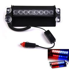 New 1pcs 8 LED Strobe Light 8W 12V Car Flash Light Emergency Warning Light  High Power
