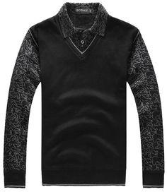 Black Casual Long Sleeve Men Wool Blend Cardigans S/M/L/XL/XXL/XXXL @SJ39982b