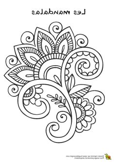 Henna Drawings, Zentangle Drawings, Zentangle Patterns, Embroidery Patterns, Mandala Art Lesson, Mandala Drawing, Mandala Coloring Pages, Colouring Pages, Doodle Art Designs