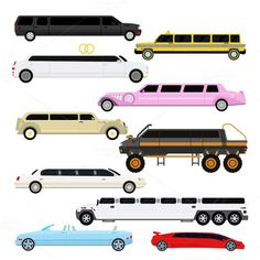 Limousine vector set. Sport Icons. $5.00