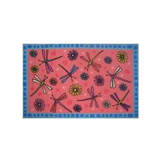 Complete your child's room with this Fun Rugs Fun Time Dragonflies rug. Fun Time, Rug Store, Dragonflies, Cool Rugs, Home Renovation, Good Times, Kids Room, Child's Room, Decor