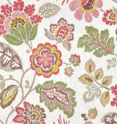 Kazoo, Opal by #tonicliving $21.45/yd... this would look pretty w/ our green couch as pillows or cornice board?