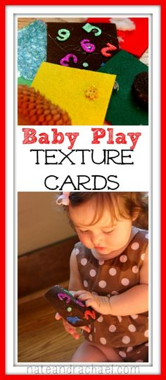 Make your own texture card for an easy and fun sensory experience. Wyatt loves his touch & feel books Baby Sensory, Sensory Activities, Infant Activities, Sensory Play, Activities For Kids, Play Activity, Toddler Play, Baby Play, Infant Curriculum