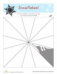 twelve free printable snowflake templates to fold and cut into