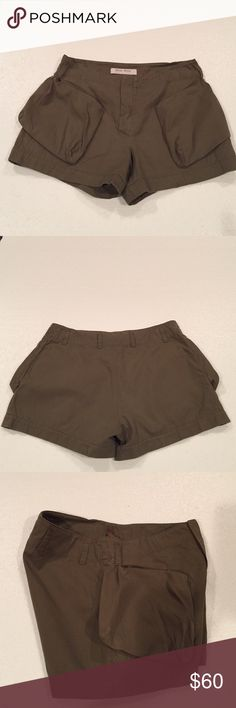 Miu Miu cargo shorts You can be summer ready with these cute cargo style shorts by miu miu. It's a European size 42. Miu Miu Shorts