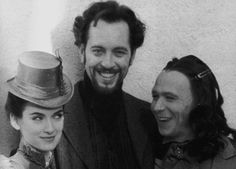 Gary Oldman looking cute as hell with his co-stars Winona Ryder and Richard E. Grant on the set of Bram Stoker's Dracula (1992).