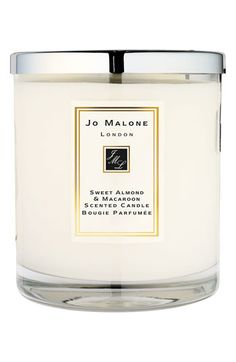Jo Malone™ 'Sweet Almond & Macaroon' Deluxe Candle available at #Nordstrom  I know, a $130 candle?! Hey, at least I didn't pin the $695 gift set that included all of this candle's friends! Shoot for the moooon.
