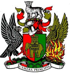 Heraldry symbols, phoenix examples how to be used with family crest - coat of arms design Coventry England, Coventry City, Michael Carter, Family Tree Art, City Tattoo, Personalised Family Tree, Dragon Slayer, Archangel Michael, Family Crest