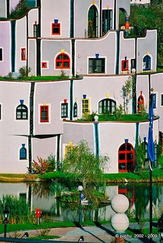 Hundertwasser styled wellness resort and spa Hotel Rogner, Bad Blumau…