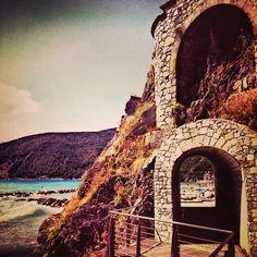 Walking between sea and stones..