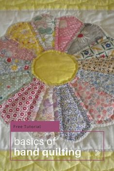 How to Quilt by Hand - DIY | Learning, Easy and Hand quilting : hand sewing quilts - Adamdwight.com