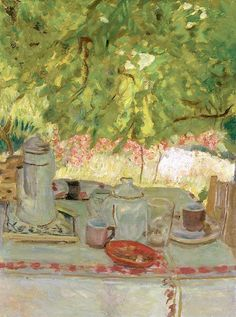 Pierre Bonnard (1867-1947) Petit déjeuner sous la tonnelle